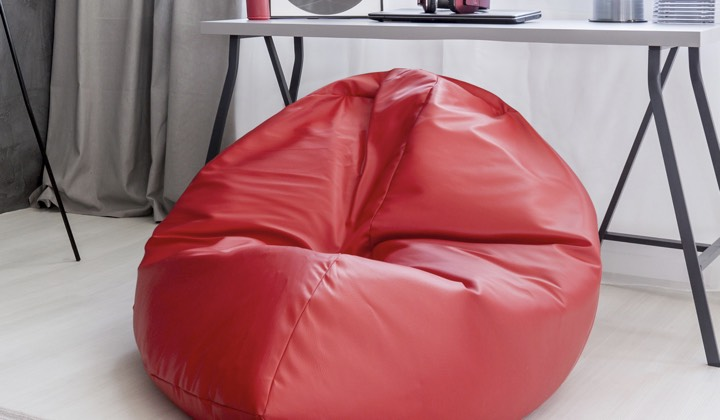 Faux Leather Bean Bags