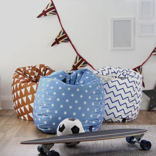 Patterned Fabric Bean Bags